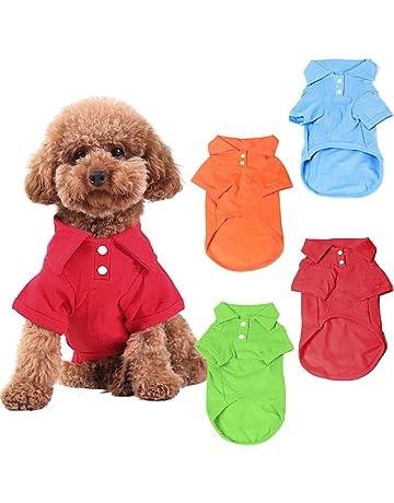543d44f1bf3d KINGMAS 4 Pack Dog Shirts Pet Puppy T-Shirt Clothes Outfit Apparel Coats  Tops