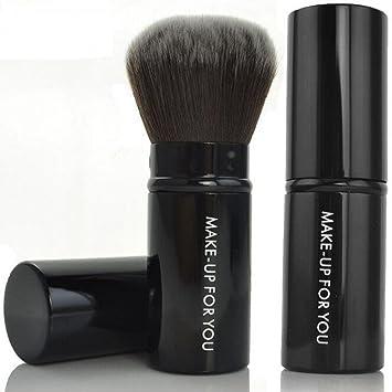 8389c9da241d Premium Retractable Kabuki Makeup Brush - Blush Brushes Great for Blending  Liquid, Cream & Mineral...
