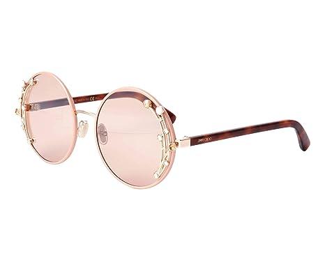 150daa4506c Amazon.com  Jimmy Choo Gema S FWM Nude Gema S Round Sunglasses Lens ...