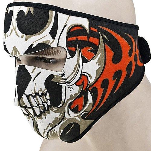 2 In 1 Reversible Skull Neoprene Full Face Biker Motorcycle Snowboard Ski Face Shield Guards