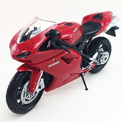 Amazon.com: NewRay Ducati 1198 Motorcycle Die-Cast Model 1 ...