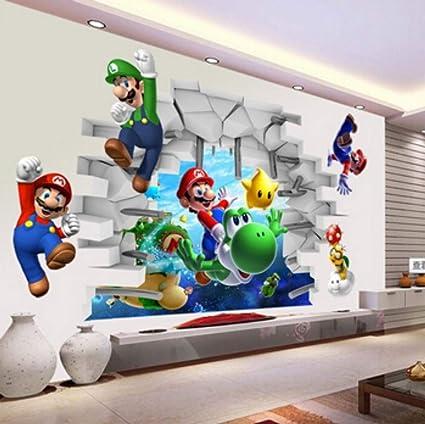 Adesivi Murali Super Mario.Adesivi Murali Visualizza Cartoon Wall Stickers Da Parete Da Parete