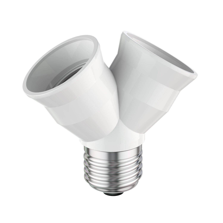 plastique ledscom 3/unit/és blanc 3,9/x 7.7/x 7,4/cm de E27/Splitter