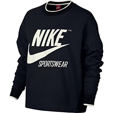 Femme Sweat Et Nike Noir Shirt Vêtements Medium xEFzwdgqz
