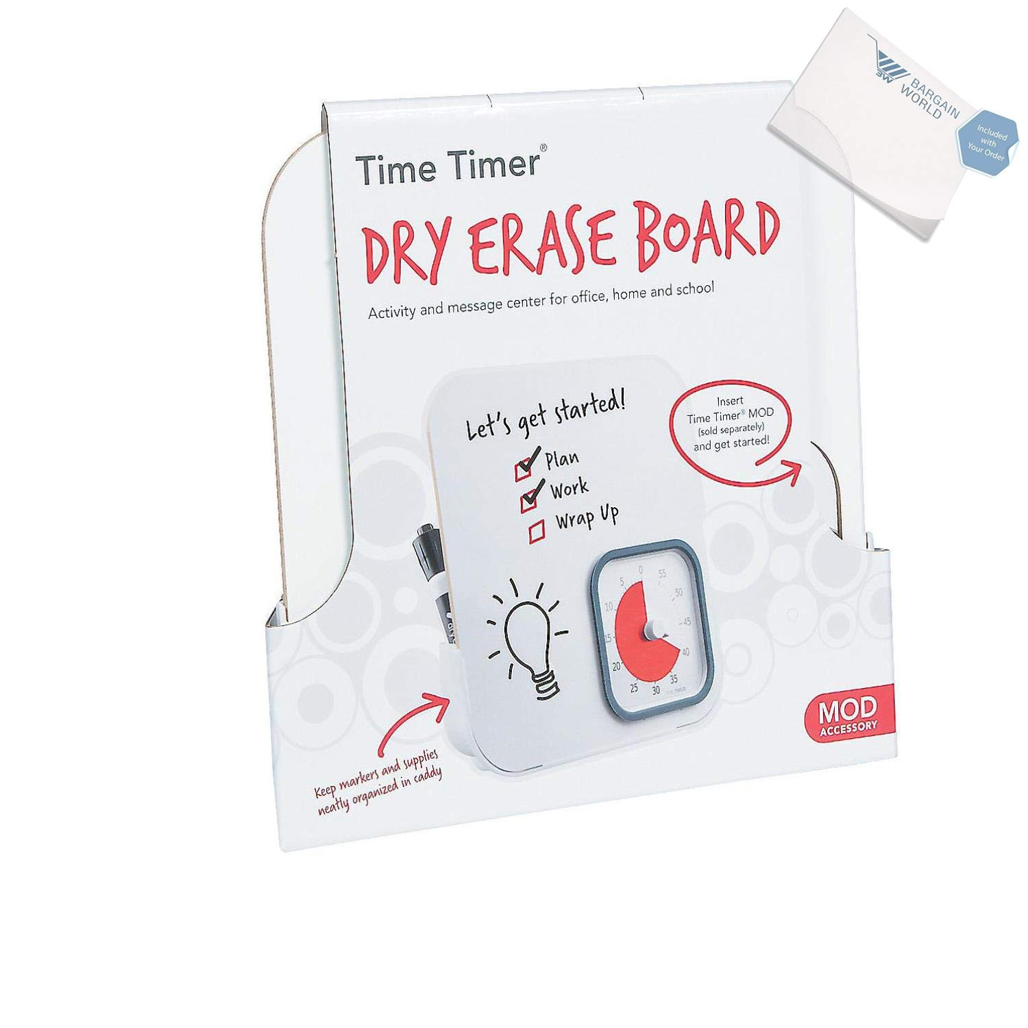 Bargain World Time Timer Dry Erase Board (With Sticky Notes)