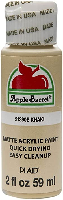 Apple Barrel Acrylic Paint in Assorted Colors (2 oz), 21390, Khaki