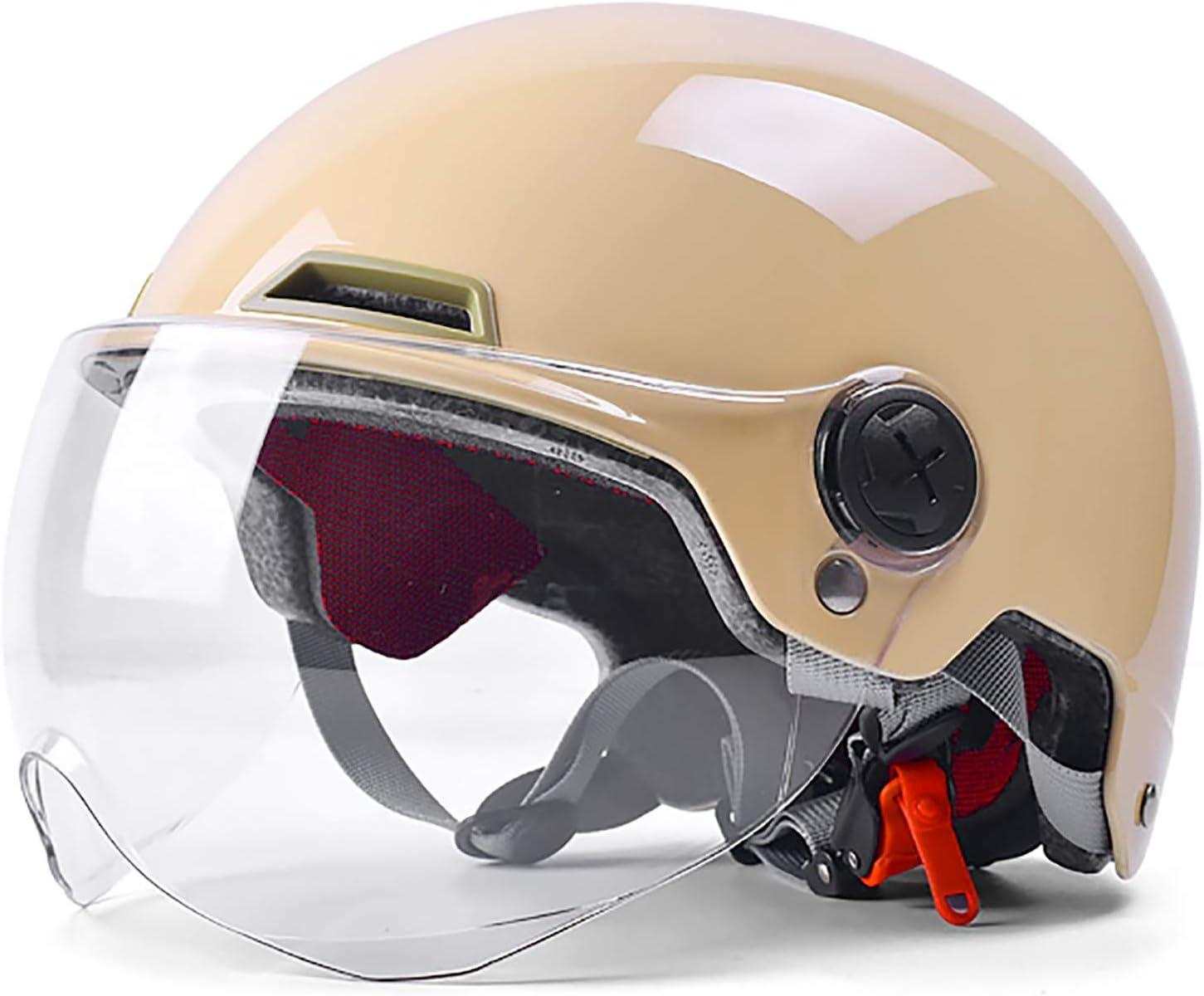 FCHMY Casco Moto Jet Abierto Retro Cascos Half-Helmet ECE Homologado Ciclomotor Scooter Bicicleta Mofa Piloto Crash Cruiser Chopper Racing Cap con Doble Visera Casco Moto Jet 55-62cm: Amazon.es: Hogar