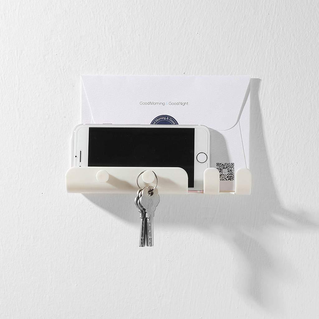 Ecurson❤️Wall Storage Holder- Mounted Hooks Storage Hanger Rack/Bathroom Bedroom Kitchen Hanging Holder,Suitable for Storage Phones, Tablets