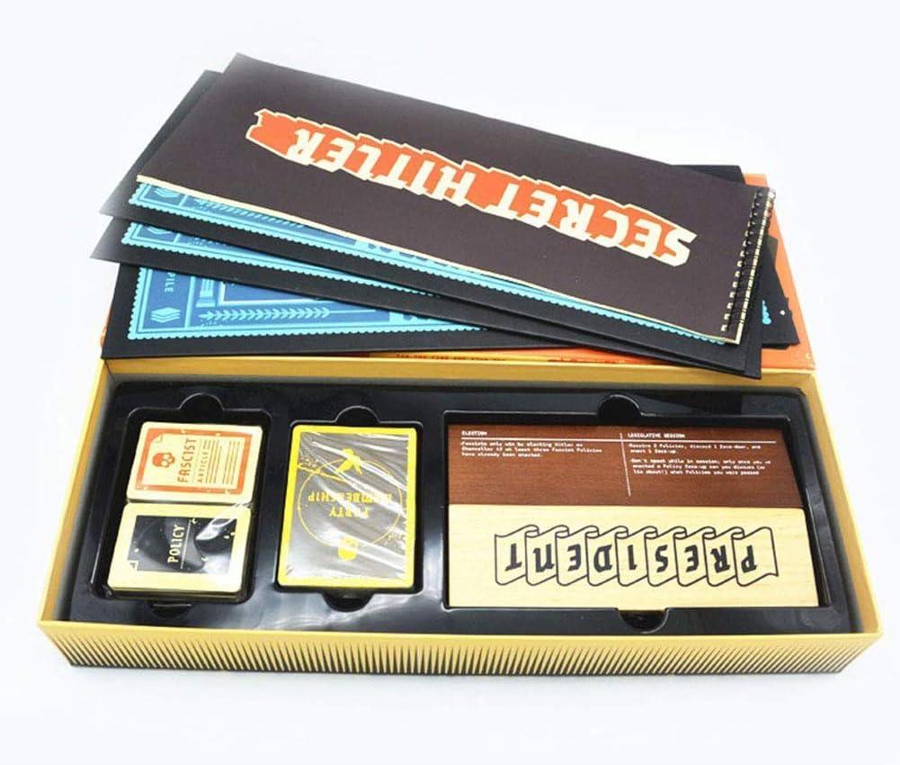 YHDM Beyond The Game Secret Hitler Juegos de Cartas - Un Juego de Cartas de Identidad Ocultas para Fiestas, Juego de Estrategia Intelectual: Amazon.es: Hogar