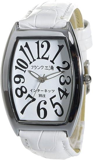 フランク三浦 インターネッツ別注 新零号機-WH メンズ 腕時計 ホワイト/ホワイト FM00IT-WH