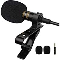 PoP voice Professional Lavalier Lapel Microphone Omnidirectional Condenser Mic for iPhone Android Smartphone,Recording…