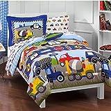 Dream Factory Trucks Reversible Comforter Set with Sheets 2d719901mu