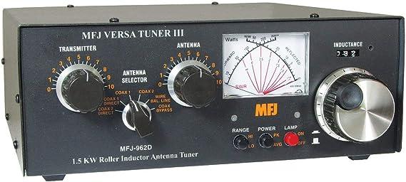 mfj-962d Antena Tuner, 1.5 kW, 1.8 – 30 mhz, CN M, SW, BL ...