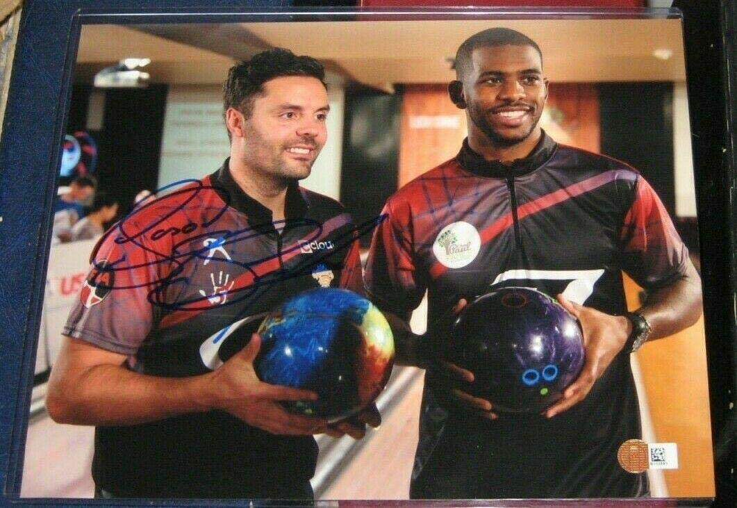 Autographed NBA Photos Jason Belmonte Pba Pro Bowling 8x10 Sm coa Chris Paul Signed Photograph