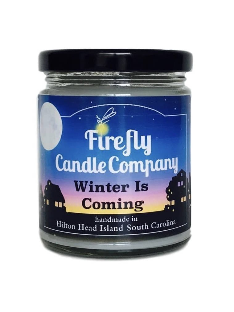 Winter Is Coming Soy Candle- Game of Thrones Inspired Candle 8oz