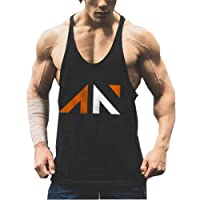 YeeHoo Homme Musculation Débardeur Maillot Tank Top sans MancheImprimé Body Building Sport Fitness
