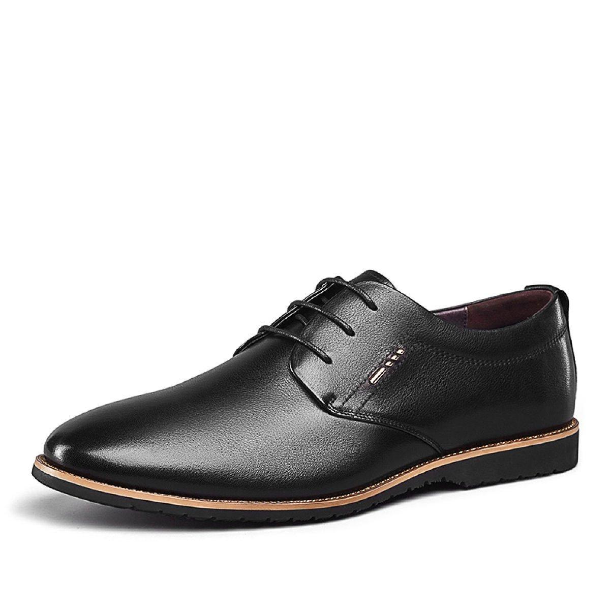 MUYII Herren Oxfords Leder Kleid Schuhe Casual Lace Up Herren Rutschfeste Bequeme Schuhe Formale Geschäft-Schuhe für Männer