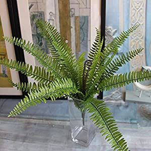 Artificial Boston fern with 15 fronds, artificial green plant / Silk plant 3