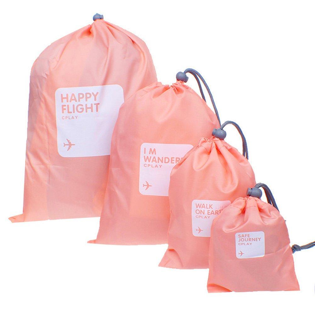BINGONE Nylon 4-in-1 Drawstring Bags//Ditty Bag//Cord Bag Storage Travel Use 4 Size Od Green AIA00555G-B