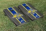 South Dakota State University Jackrabbits Cornhole Game Onyx Stained Stripe Jackrabbit Version