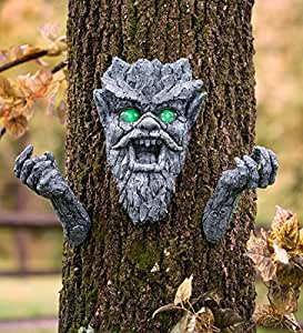 Halloween Glowing Eyes Werewolf Face And Arms