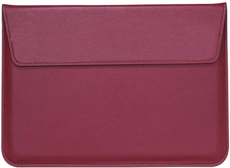 Buwico Waterproof PU Leather Sleeve Case Ultra Thin Carrying Case Storage Bag with Stand Support Function for MacBook Air/MacBook Pro 13 inch /13.3 inch Laptop(Wine Red)