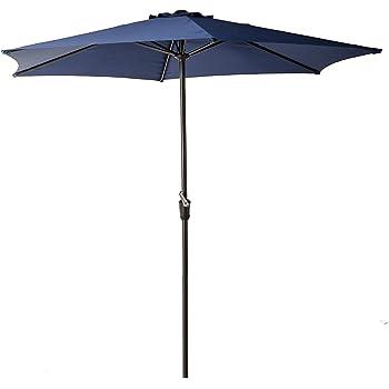 Charmant Grand Patio 9FT Aluminum Patio Umbrella, UV Protective Beach Umbrella With  Easy Crank And W