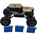 Blomiky 1:18 Scale Alloy Gold Monster RC Cars Off-Road Rock Toy RC Vehicle Crawler RC Truck 4WD Remote Control Buggy Extra 2 Battery C185 Gold