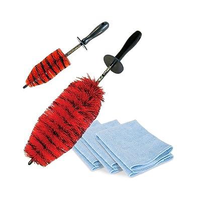 SR1 Performance Speed Master Wheel Brush Kit + Towels: Automotive