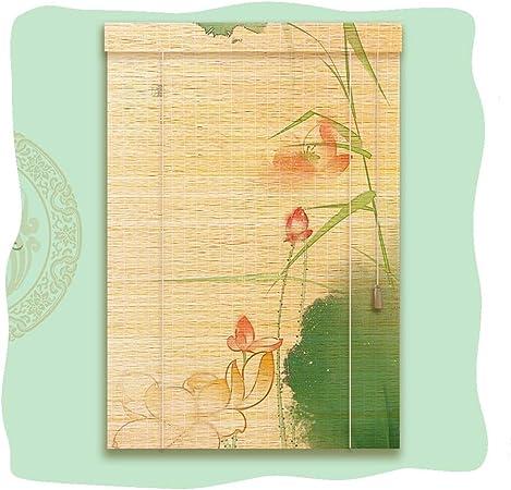 WYAN Privacidad Roller Shade bambú Roll Up luz ciega Filtrado de decoración for el hogar for Pergola Balcón, tamaños Personalizable (Color : E, Size : 50x150cm): Amazon.es: Hogar