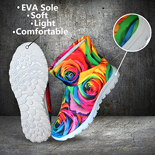Waterproof Snow U Colorful Dark FOR Stylish DESIGNS Women Flat Blue Warm Winter Boots Girls Dots avWq71cw