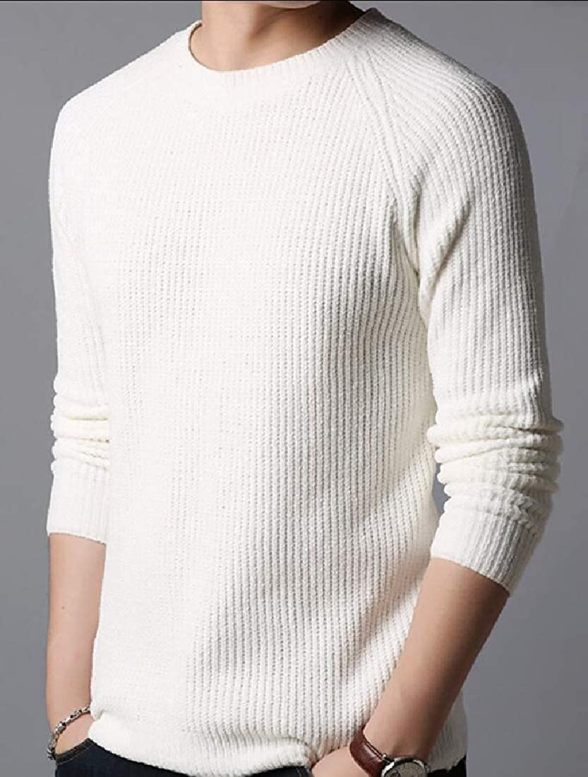 omniscient Mens Pullover Knit Crew Neck Long Sleeve Top Blouse Sweater