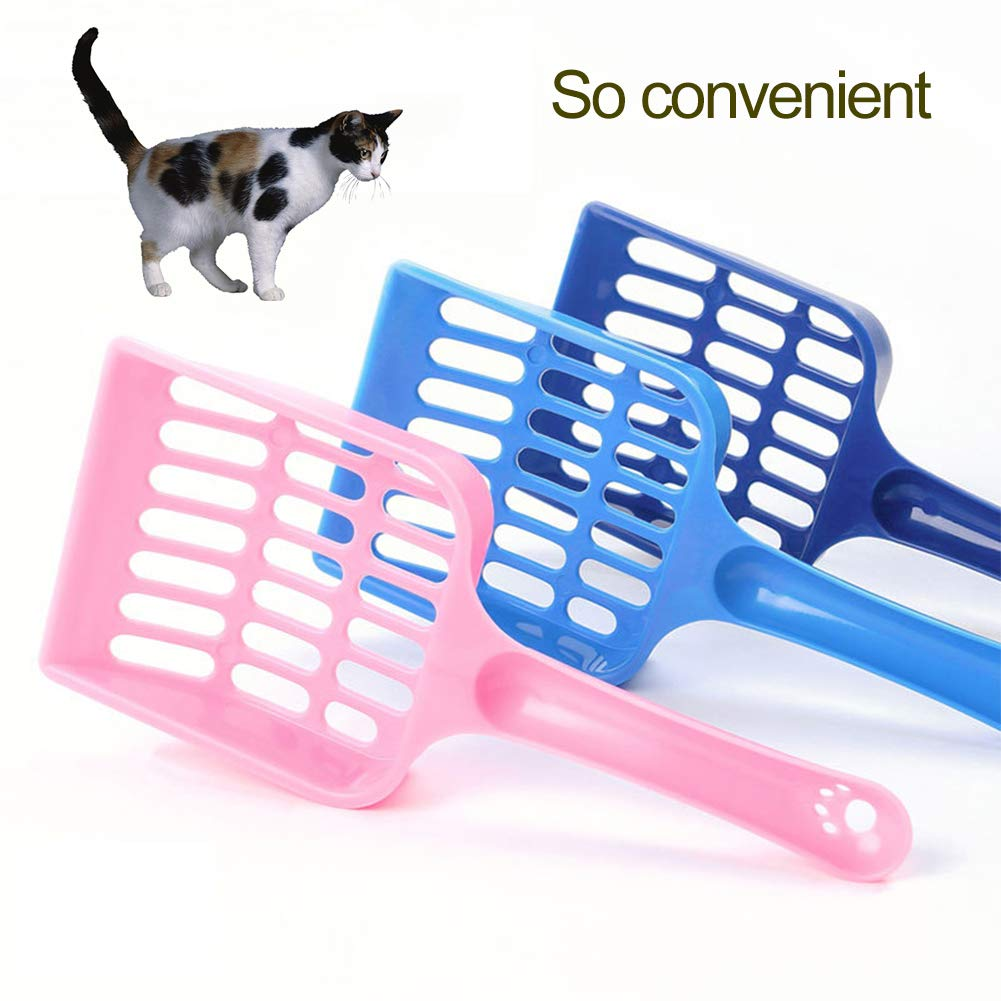 wanshenGyi Cat Litter Scoop, Plastic Cat Litter Scoop Pet Sand Waste Scooper Shovel Hollow Cleaning Tool - Random Color, Office, Home, Travel, School, All Code.