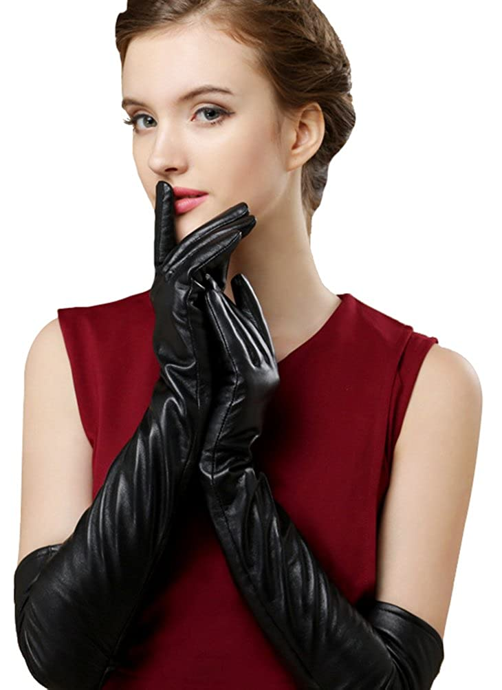Edwardian Gloves, Handbag, Hair Combs, Wigs Bellady Womens Winter Opera Long Evening Dress Texting Touchscreen Leather Gloves $10.99 AT vintagedancer.com