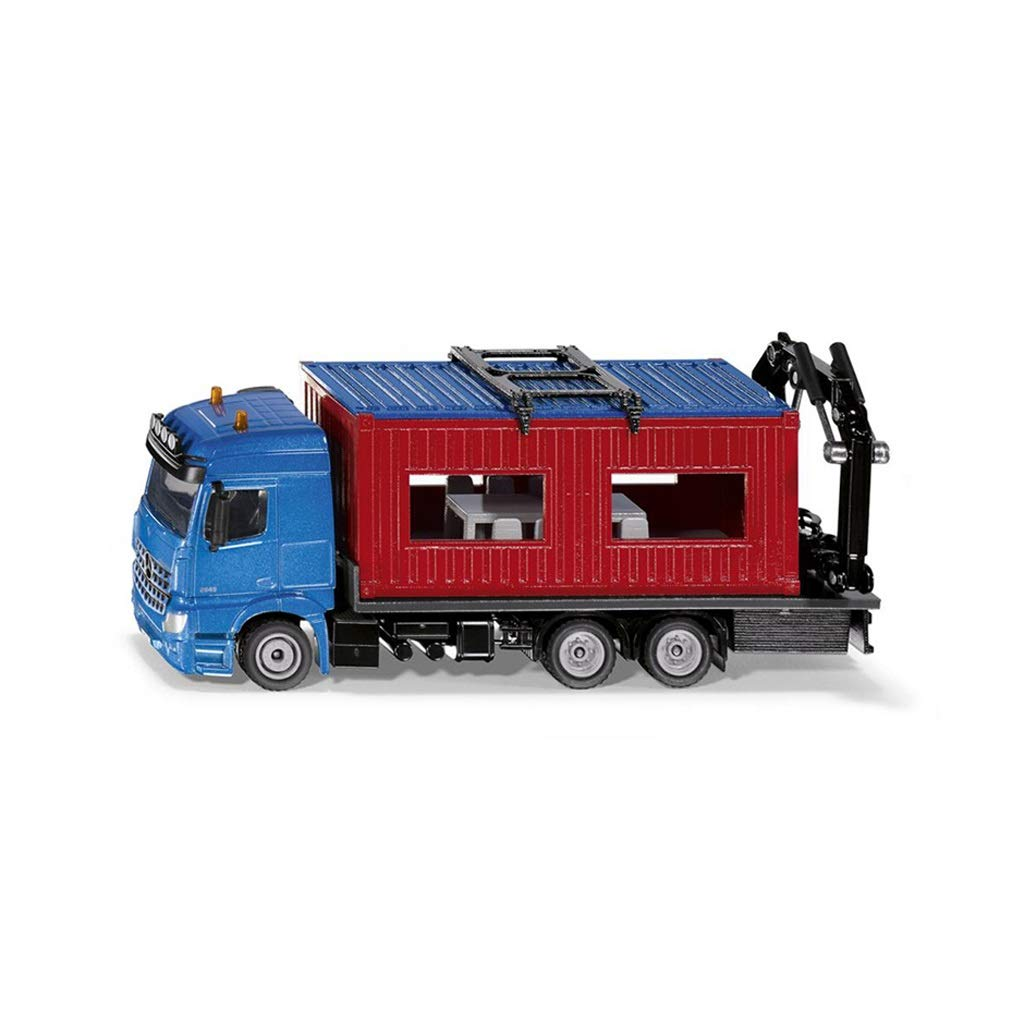 LIUFS-Alloy Car Car Model Simulation Toy Mercedes-Benz Work Car Alloy Car ( Color : Blue )