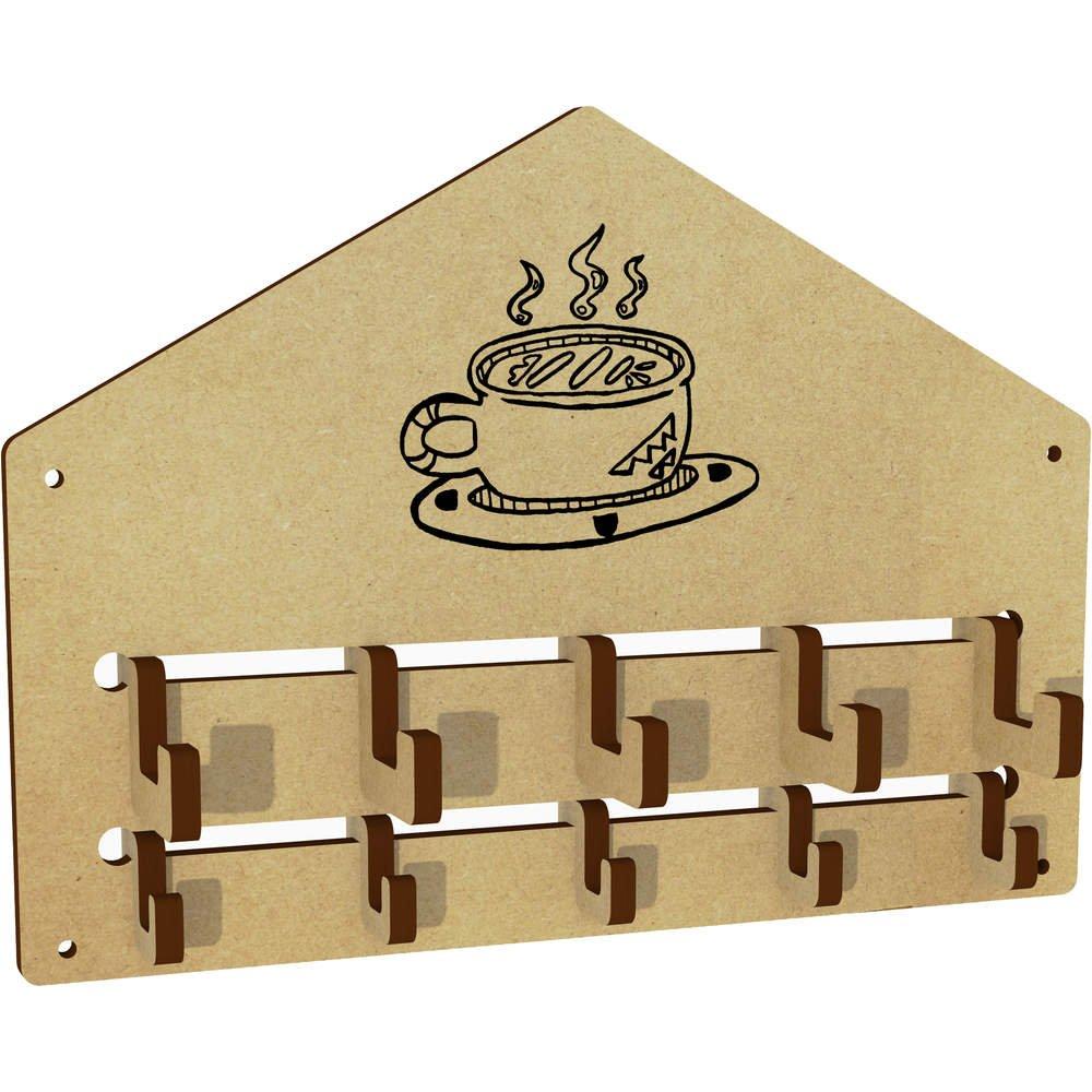 Azeeda 'Mug Coffee' Wall Mounted Coat Hooks / Rack (WH00020042)