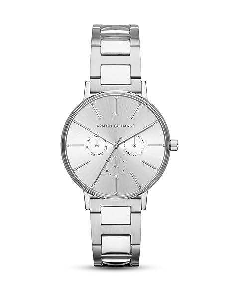 Armani Exchange Reloj Analógico para Mujer de Cuarzo con Correa en Acero Inoxidable AX5551: Amazon.es: Relojes