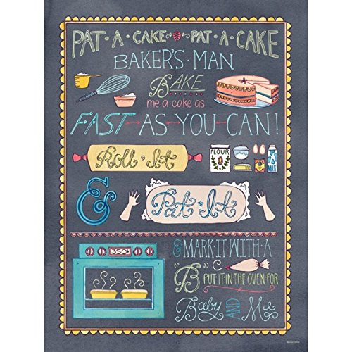 Oopsy Daisy Canvas Wall Art Pat a Cake by Becca Cahan, 18 by 24-Inch