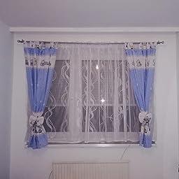 101. Eule Grau BABYLUX Kinderzimmer VORHANGE mit Schlaufen Kinder und Baby Gardinen 2x 120x160 cm
