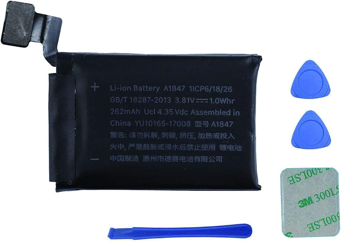 Swark Replacement A1847 Battery Compatible with Apple Watch Series 3 38mm GPS Version