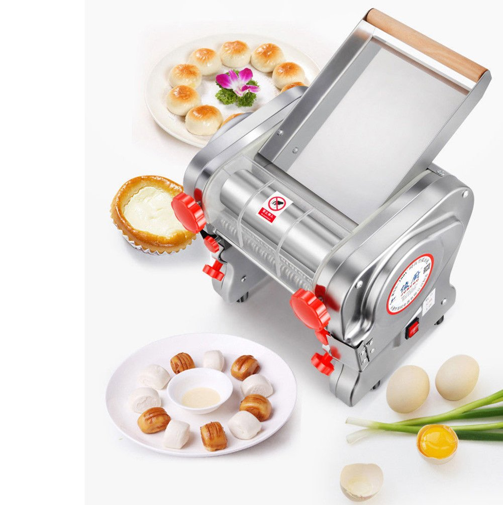 Accessary -1.8mm Round Cutter 750W 110V Stainless Steel Commercial Electric Noodle Making Pasta Maker Dough Roller Noodle Cutting Machine