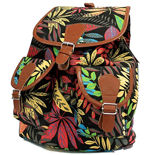 Bag2Bag - mochila niña unisex - adultos Mujer Unisex, niños negro/naranja