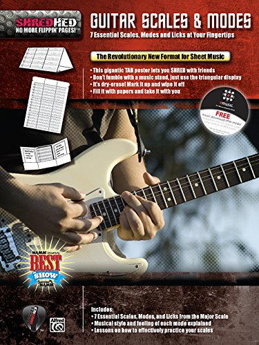 Guitar Scales & Modes: 7 Essential Scales, Modes, and Licks at Your Fingertips, Poster / Folder / Triangular Display (Triangular Display)