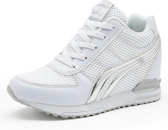 Damen Keilabsatz Sneakers Turnschuhe Sportschuhe Freizeit