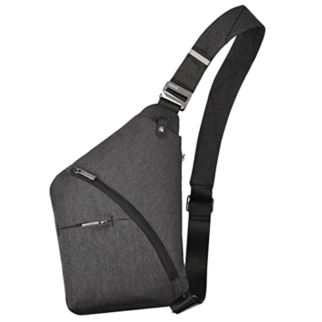 793a0609595d OSOCE Sling Chest Bag Cross Body Shoulder Backpack Anti Theft Travel Bags  Daypack for Men Women(Black)