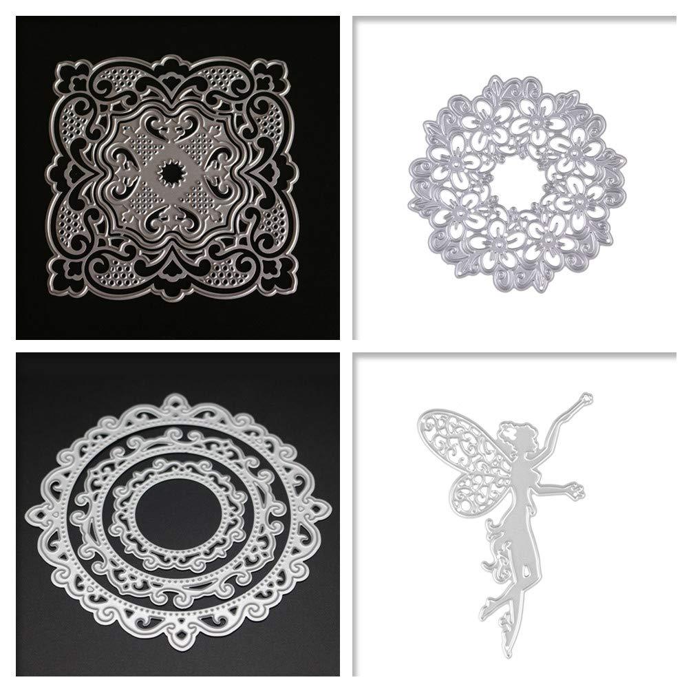 AkoMatial Cutting Dies,Frame Design Embossing Cutting Dies Tool Stencil Template Mold Card Making Scrapbook Album Paper Card Craft,Metal
