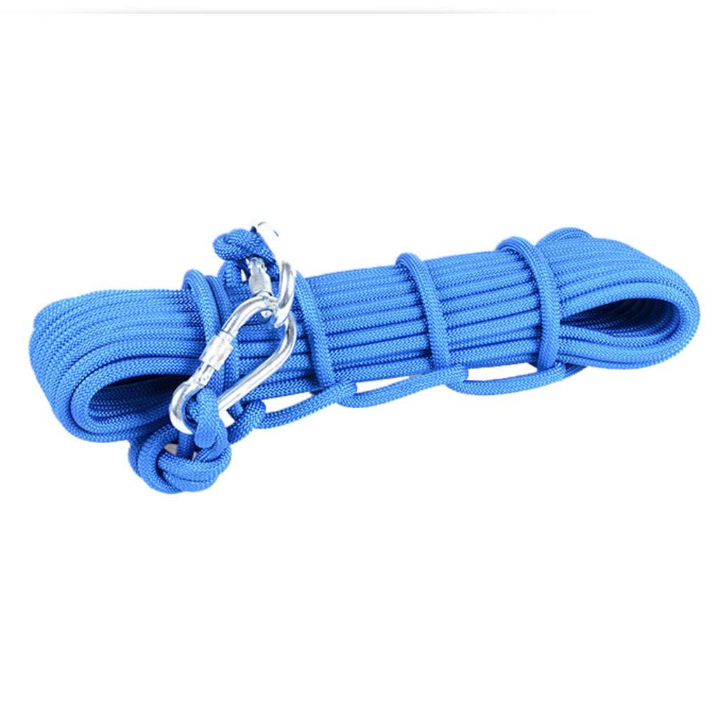 Bleu MODKOY Corde d'escalade extérieure, Corde de Rappel de sécurité d'évacuation Statique 8mm   10mm 8mm40meters