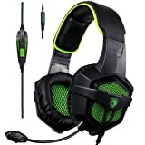Amazon Price History for:[2017 New Xbox one PS4 Gaming Headset ], SADES SA-807 Green Over-ear Bass Gaming Headsets Headphones For New Xbox one PS4 PC Laptop Mac Mobile (Black&Green)