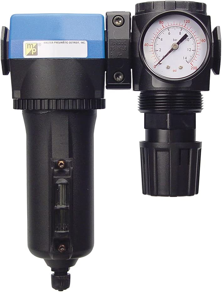 Master Pneumatic 1//2 Deluxe Inline//Modular Air Regulator /& Separator Combo Made in USA 4-SA455