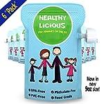 Reusable Food Pouch 6 Pack, Refillabl...